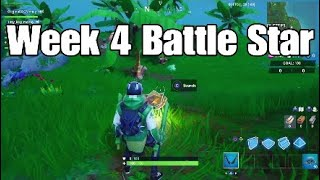 Semaine 4 Secret Battle Star Location - Fortnite Saison X