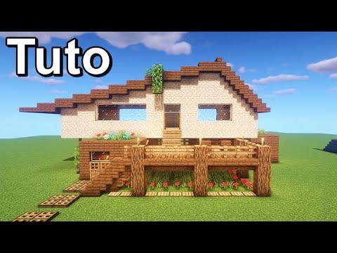 Tuto belle maison de plage sur minecraft ! :)
