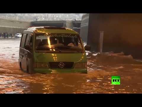 بيروت تغرق بمياه الأمطار  - نشر قبل 1 ساعة