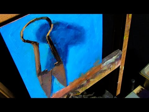 Painting Rusty Metal | Antique Shears Still Life in Oils