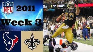 Houston Texans vs. New Orleans Saints   NFL 2011 Week 3 Highlights