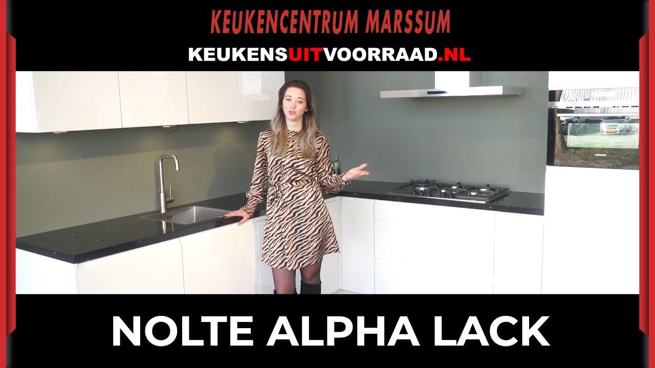 Nolte Alpha Lack Keuken Uit Voorraad Youtube