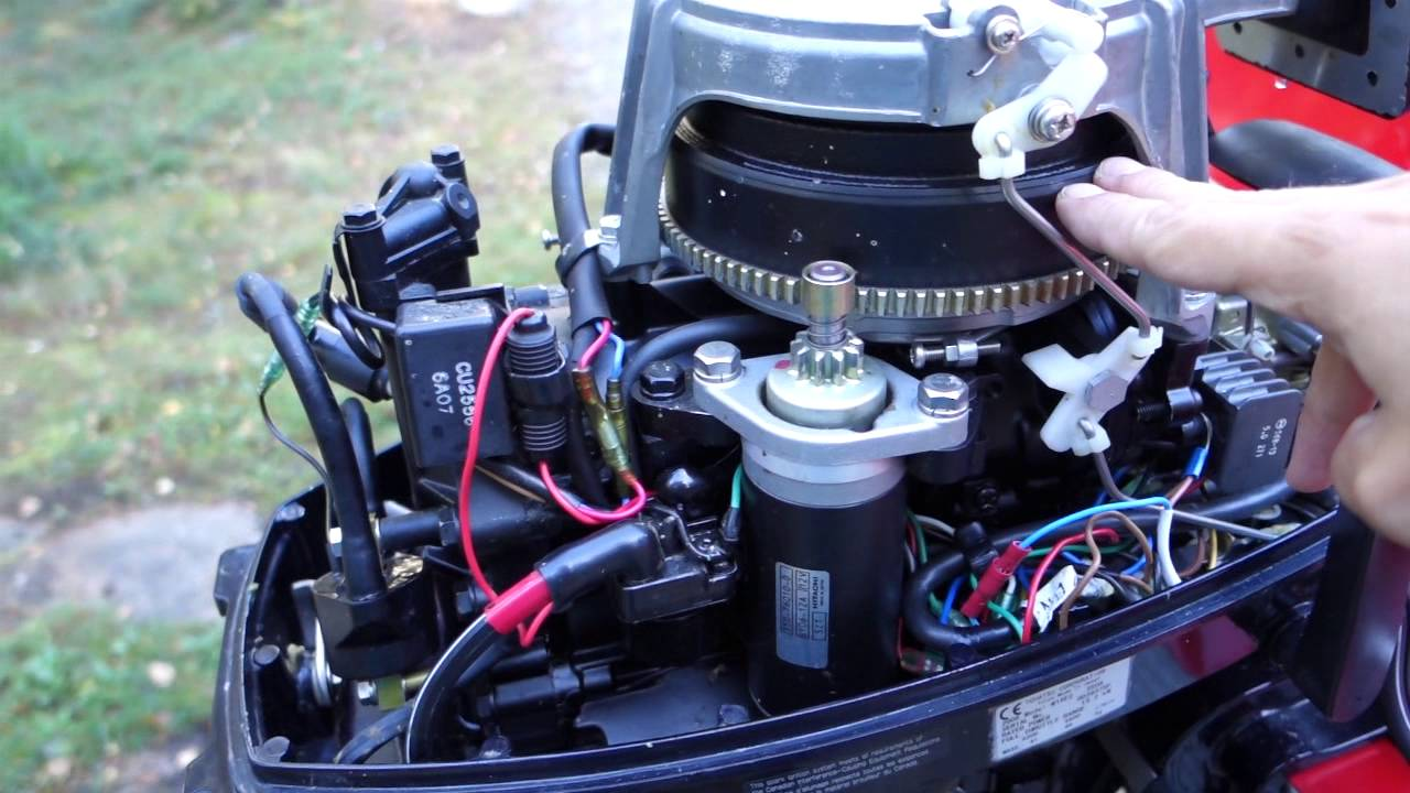 How to install an automotive tachometer into an outboard engine