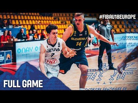 Lithuania v Slovenia - Full Game - FIBA U18 European Championship 2017