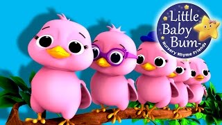 "Five Little Birds | Nursery Rhymes | Original Song based on ""5 Little Ducks"" by LittleBabyBum"