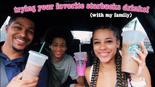 Trying My Subscribers Starbucks Drinks For A Week | Azlia Williams