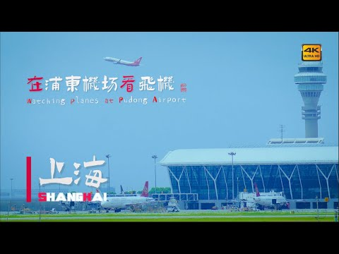 Watching planes land and take off at Pudong Airport在浦东机场看飞机\ China streets \上海の街 \4K