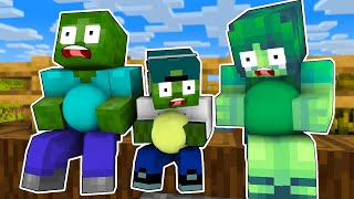 Monster School With Poor Family Zombie Sad Life - Minecraft Animation