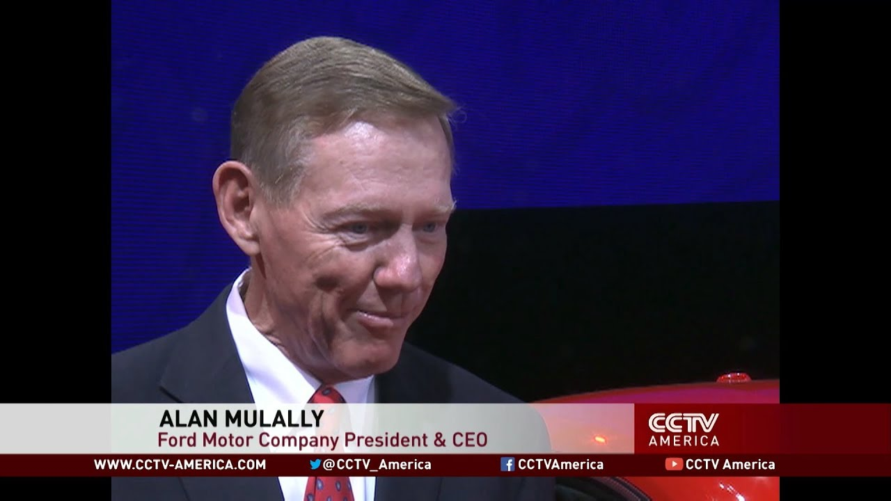 Interview with ford ceo alan mulally at 2014 beijing auto for Ford motor company alan mulally