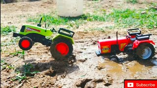 HMT Tractor Stuck in Mud and  Pulling out Mahindra YUVO 575 DI Double E, Excavator | Ammu kutty