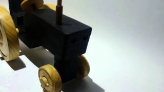 Shou Sugi Ban Wooden Tractor Toy