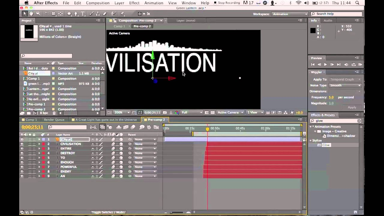 After Effects Tutorial - Kinetic typography effects .mov ...