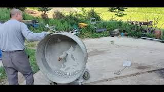 20200601 산골의 오늘의 일기-콘크리트 믹서기