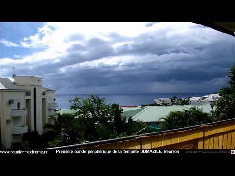 Tempête DUMAZILE à proximité de La Réunion - Première bande périphérique - Mars 2018