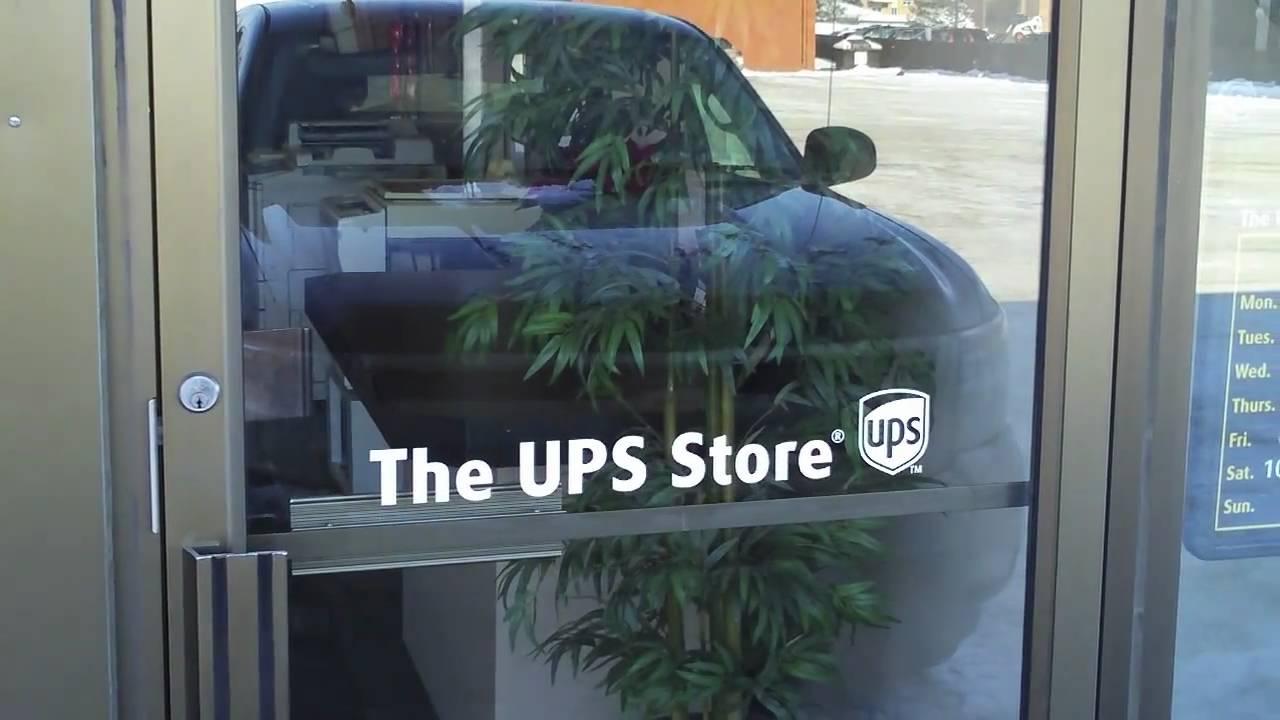 Glass door ups store - Printing Saskatoon The Ups Store On 8th Street