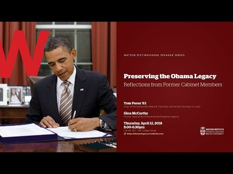 Preserving the Obama Legacy - Reflections from Former Cabinet Members