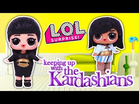 💄 KIM KARDASHIAN & KYLIE JENNER 👄 Custom LOL SURPRISE DOLLS from Keeping Up With the Kardashians !