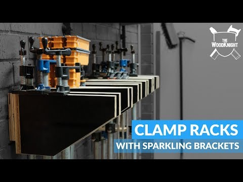 Woodworking Clamp Racks   Simple Plywood Project