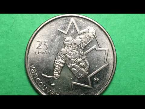 Canada 25 Cents 2009 Paralympics Coin - Sledge Hockey 2010 Games