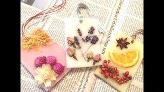 "【DIY】ほのかに香る「アロマワックスバー」の作り方♡~How to make ""aroma wax bar"" which smells faintly."