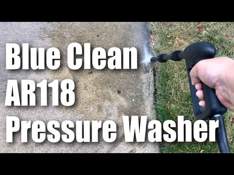 AR Blue Clean AR118 1,500 PSI 1.5 GPM Hand Carry Electric Power Pressure Washer Review