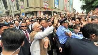 PM Modi interacting with the people in Xi'an, China