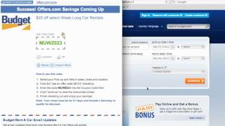 Budget Rent A Car Coupon Code 2013 - How to use Promo Codes and Coupons for Budget.com