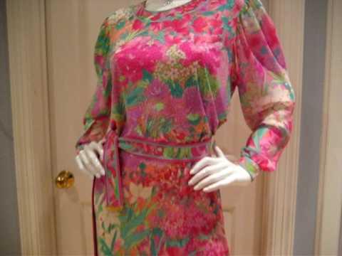 Leonard Paris Vintage Silk Jersey Dress 1