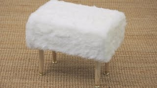 House & Home Fuzzy Stool DIY
