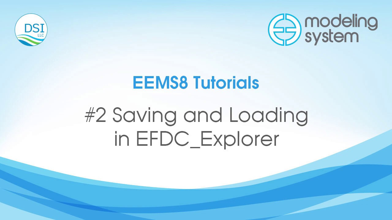 #2 Saving and Loading in EFDC Explorer