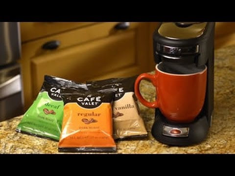 Coffee Maker And Single Cup Combo : Cafe Valet - One Cup Coffee Maker - Single Serve Brewer - Easy, Affordable, No Clean Up, Combo ...