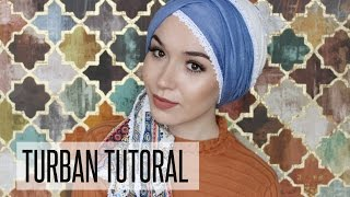 TURBAN TUTORIAL | EID LOOK TUTORIAL | NABIILABEE