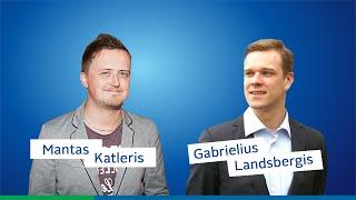 Mantas Katleris sutrukdo Gabrieliaus Landsbergio Kalėdų sveikinimą.