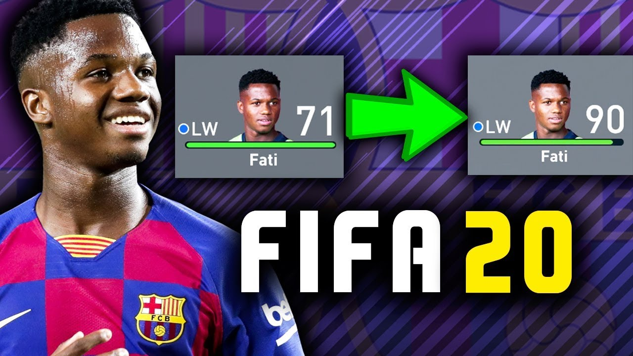 Ansu Fati Is Officially In Fifa 20 Career Mode Fifa 20 Growth Test Youtube