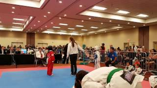 9 year old taekwondo girl gold medal aau Albuquerque 2017