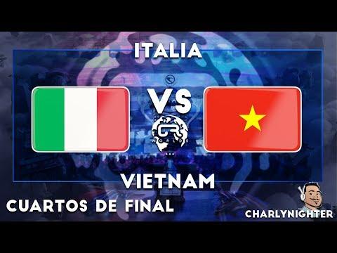 CR WORLDS | CUARTOS DE FINAL | ITALIA VS VIETNAM | CLASH ROYALE