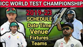 ICC World Test Championship 2019-2023 Schedule, Teams, Date Time, Venue, Fixtures | Time Table