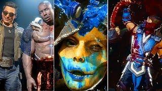 Mortal Kombat 11 - All Fatalities Brutalities All New Characters So Far (MK11)