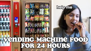 i ate vending machine food for 24 hours | clickfortaz