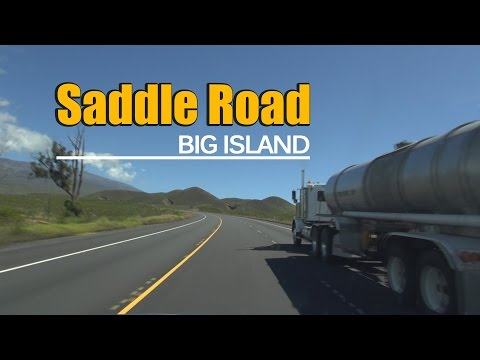 Drive the Saddle Road from Kona to Hilo in the Big Island (no sound)