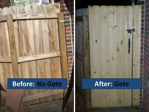Installing A Gate In An Existing Fence Complete Novice