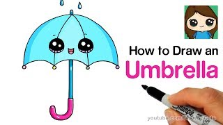 How to Draw an Umbrella Cute and Easy