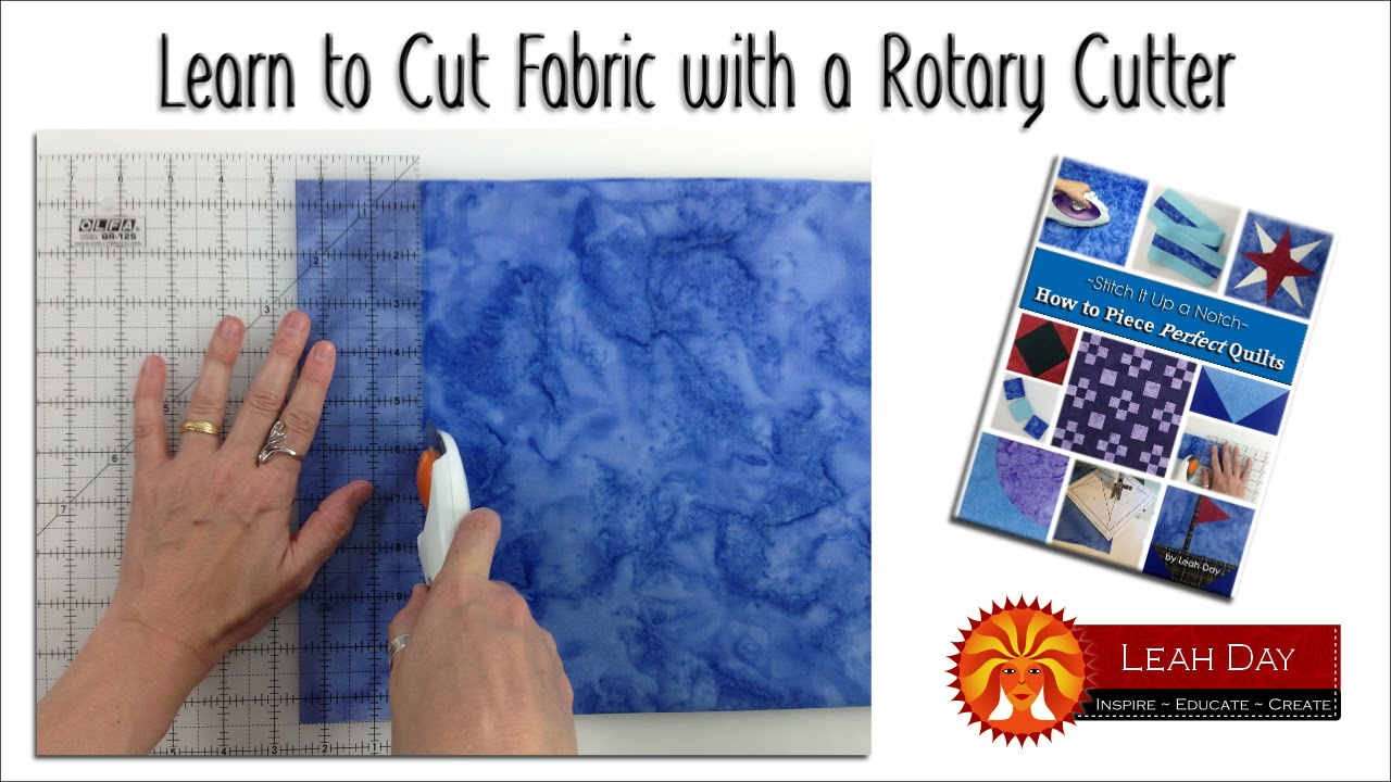 How to Cut Fabric with a Rotary Cutter for Quilt Making - YouTube : quilting fabric cutter - Adamdwight.com