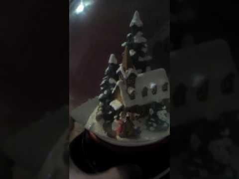 Christmas snow globe music box