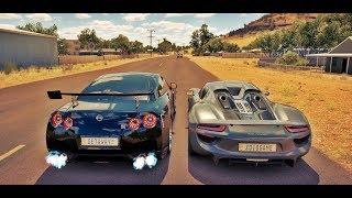 Racha de Nissan GT-R VS Porsche 918 Spyder - Forza Horizon 3 Online - GoPro - G27 ‹ ZoiooGamer ›