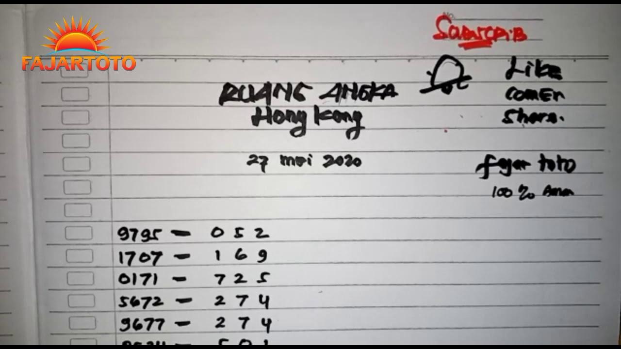 Prediksi hk hari ini 27 mey 2020 - YouTube