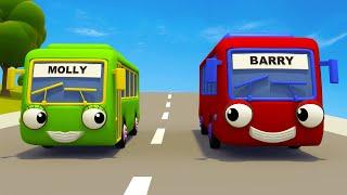 Baby Bus Nursery Rhymes & Kid Songs | Gecko's Garage | Wheels On The Bus | Bus Videos For Kids