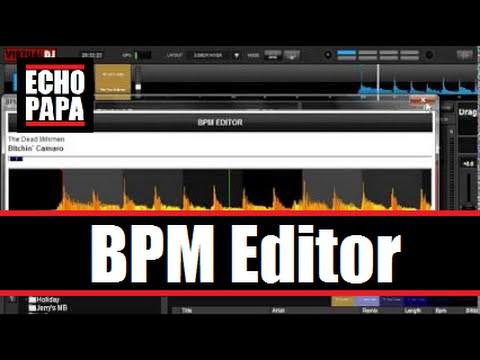 Virtual DJ 8: BPM Editor