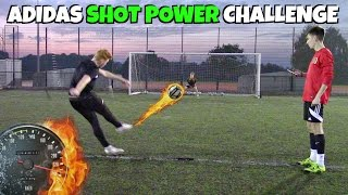 WHO HAS THE FASTEST SHOT?   Adidas miCoach Smart Ball Football Challenge