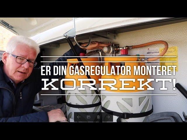 Er din gasregulator korrekt monteret!